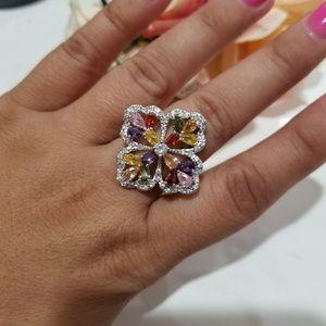 Chupchick Jewelry - 925 Swarovski multi colored rings size 7